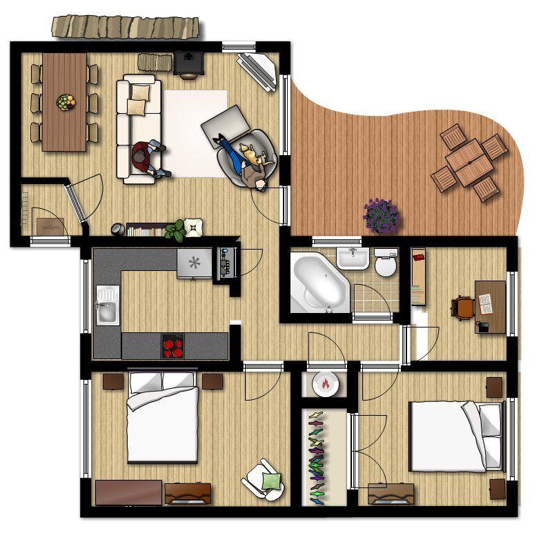 L 39 appartamento lamiatecnologia for Progetti case moderne interni